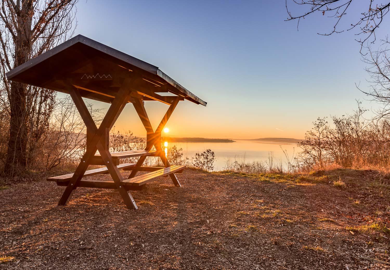 Sonnenaufgang am Geiseltalsee