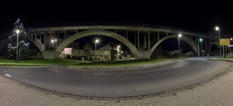Kreisverkehr Mücheln Viadukt