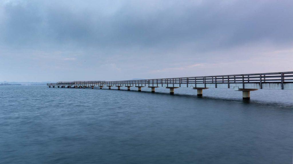 Seebrücke Braunsbedra im Winter