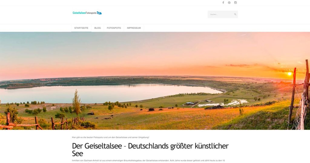 Projekt - Geiseltalsee-Fotospots.de