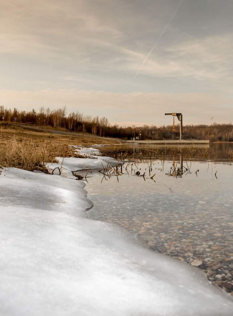Eisiger März Geiseltalsee