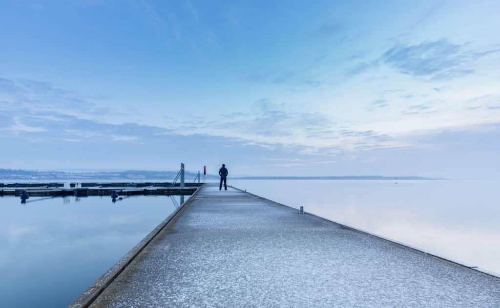 Hafen Geiseltalsee Winter
