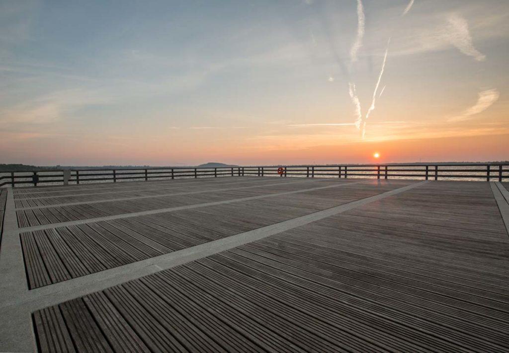 Plattform der Seebrücke Braunsbedra
