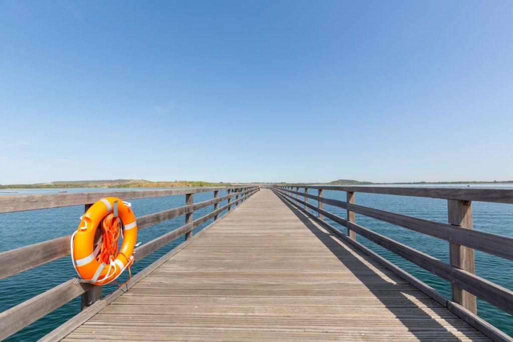 Seebrücke am Geiseltalsee